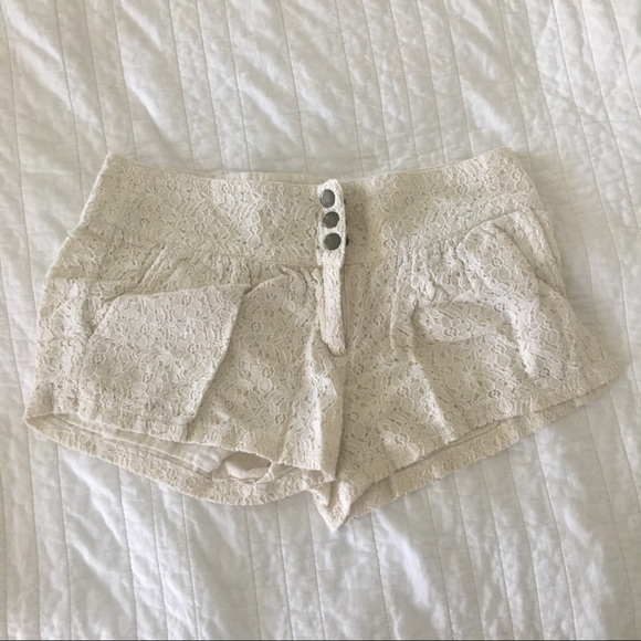 just ginger Other - White Lace Shorts